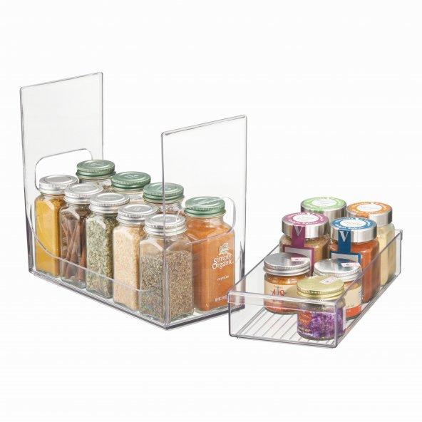 Mutfak tezgah üstü ve dolap içi 2 katlı ayrılabilir organizer