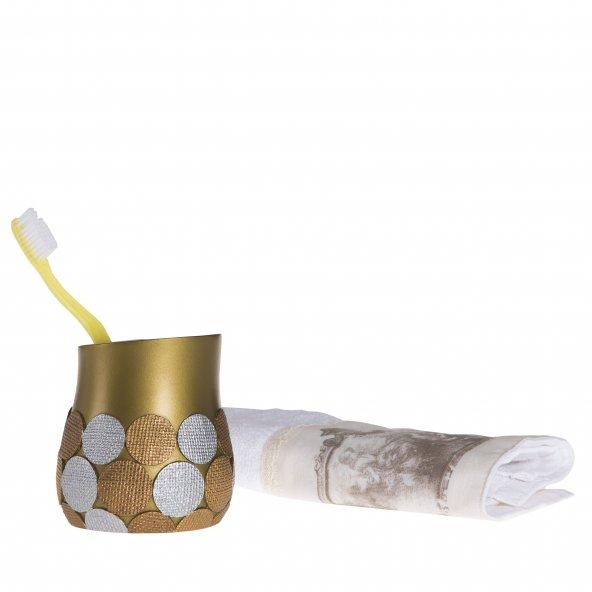Diş fırçalık Altın büyük puanlı