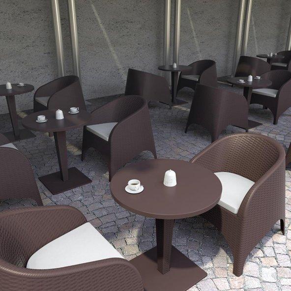 Siesta Ariva Rattan Bahçe Balkon 2 Sandalyeli Masa Takımı
