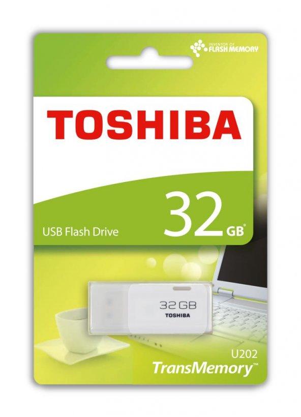 32 GB USB 2.0 TOSHIBA HAYABUSA BEYAZ (THN-U202W0320E4)