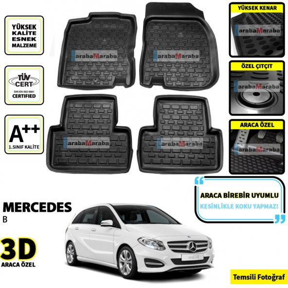 Mercedes B Serisi 3D Oto Paspas Seti