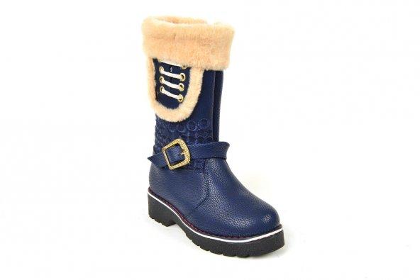 Zerolife FT 043 İçi Termal Kürk Kız Çocuk Çizme Bot Ayakkabı