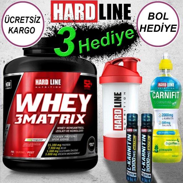 HardLine Whey 3Matrix Protein Tozu - 2300 gr