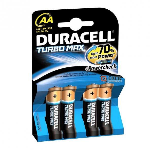 Duracell Turbo Max Alkalin AA 4 Paket