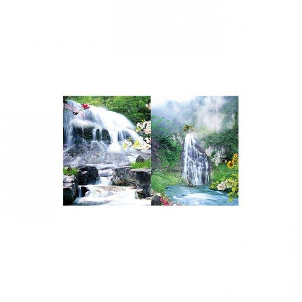 Waterfall 2 Parça Kanvas Tablo 60X40 Cm