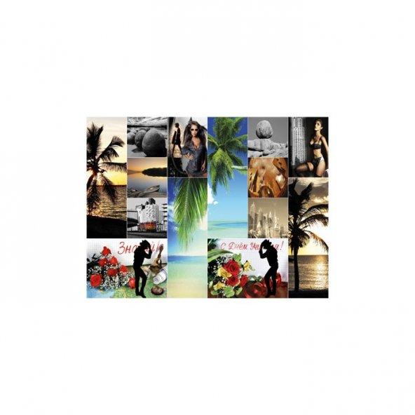 Romantic Collage 2 Parça Kanvas Tablo 80X100 Cm