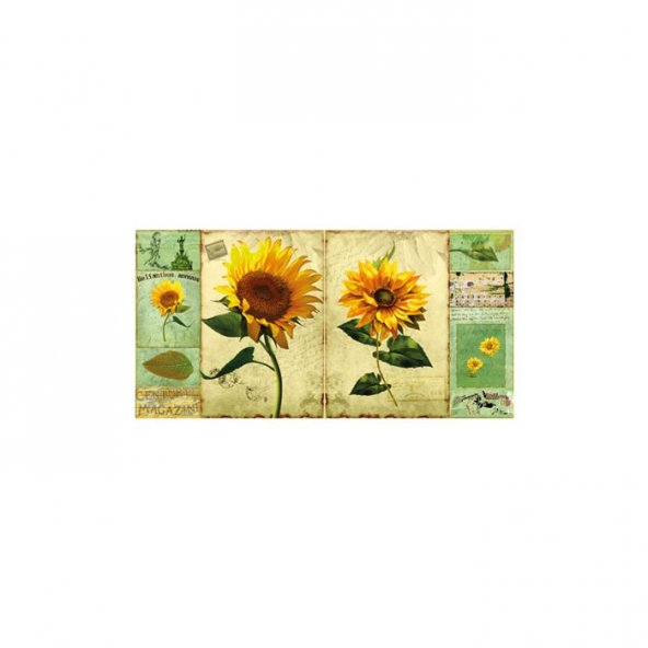 Sunflowers 2 Parça Kanvas Tablo 80X40 Cm