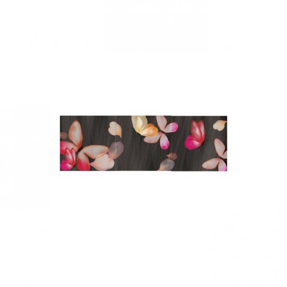 Pinkly Life 3 Parça Kanvas Tablo 40X120 Cm