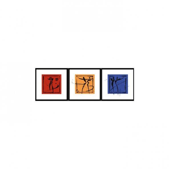 Main Colors 3 Parça Kanvas Tablo 40X120 Cm