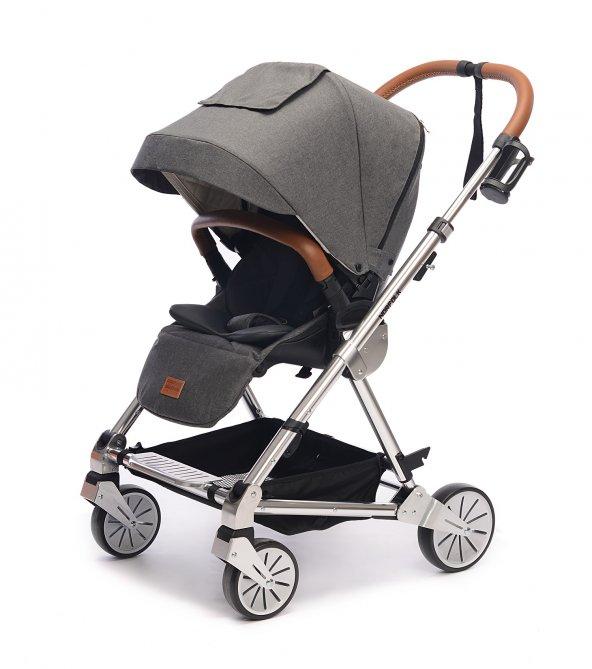 Norfolk Baby Prelude Special Edition Air Luxury Çift Yönlü Bebek Arabası - Gri