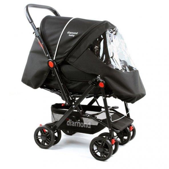 Diamond Baby P101 Çift Yönlü Bebek Arabası - 6 Renk -Ayak Örtüsü Yağmurluk Dahil