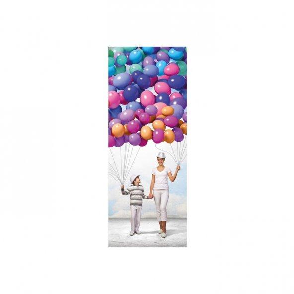 Neşeli Balonlar Buzdolabı Sticker
