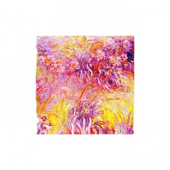Pinky Purple 4 Parça Kanvas Tablo 70X70 Cm