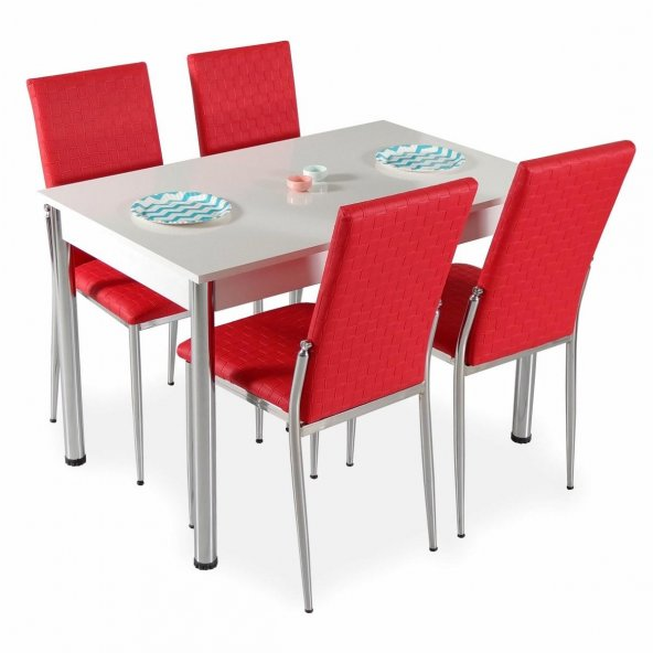 Mutfak Masa Takımı Mutfak Masası 4 Sandalye + Yemek Masası Takim
