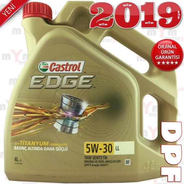 Castrol Edge LL 5W-30 4Litre Tam Sentetik Motor Yağı -ACEA C3 DPF