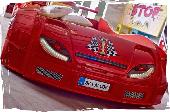 Araba Karyola, Rally Çocuk Odası, Champion Araba(90*190)