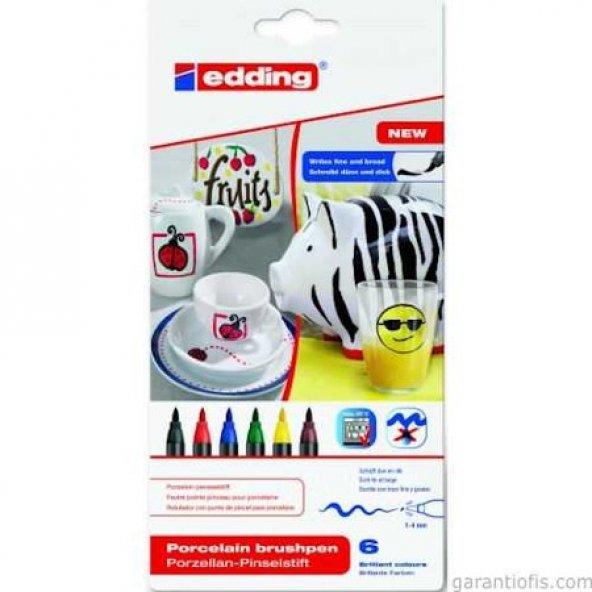 Edding 4200 Porselen Kalemi Standart Renkler 6lı