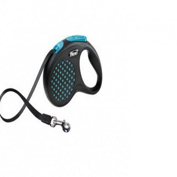 Flexi Design Tape Small 5 Mt Mavi Otomatik Köpek Gezdirme Tasması