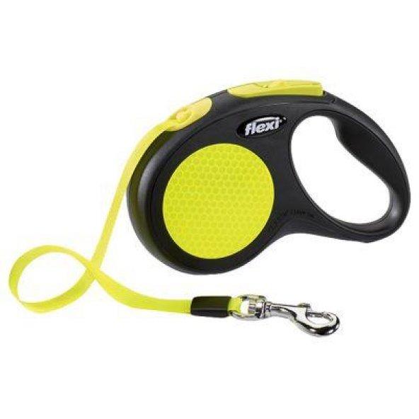 Flexi Neon Şerit Small 5 Metre Otomatik Köpek Gezdirme Tasması