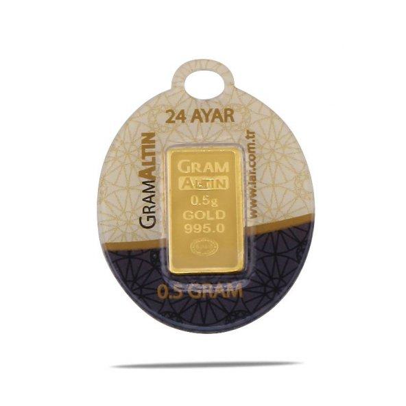 0,5 gr 24 Ayar Gram Külçe Altın