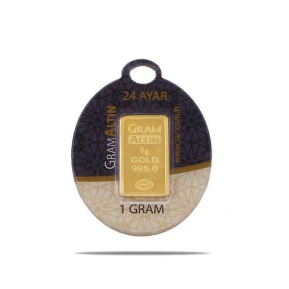 1 gr 24 Ayar Gram Külçe Altın