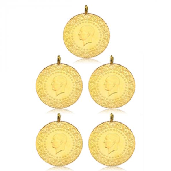 Tam Altın Darphane 5 adet paket  ( 2019 )