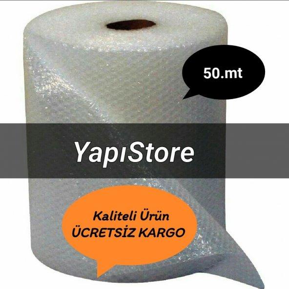 PAT PAT BALONLU AMBALAJ NAYLONU 100.cm 50.mt 50.gr/m2