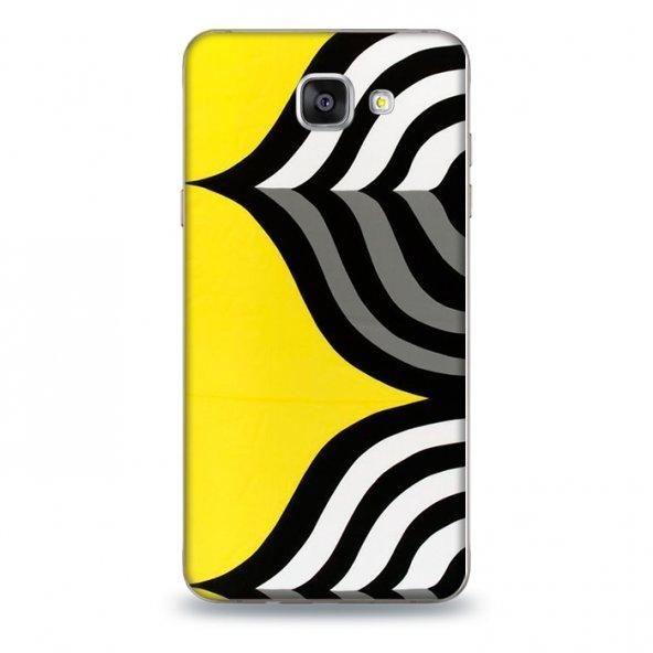 SAMSUNG A5 2017 Kılıf Sarı Zebra Desenli Kılıf