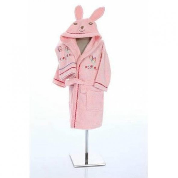 Özdilek Pinky Girl Kız Çocuk Free Bornoz Seti Pembe 5-6 Yaş