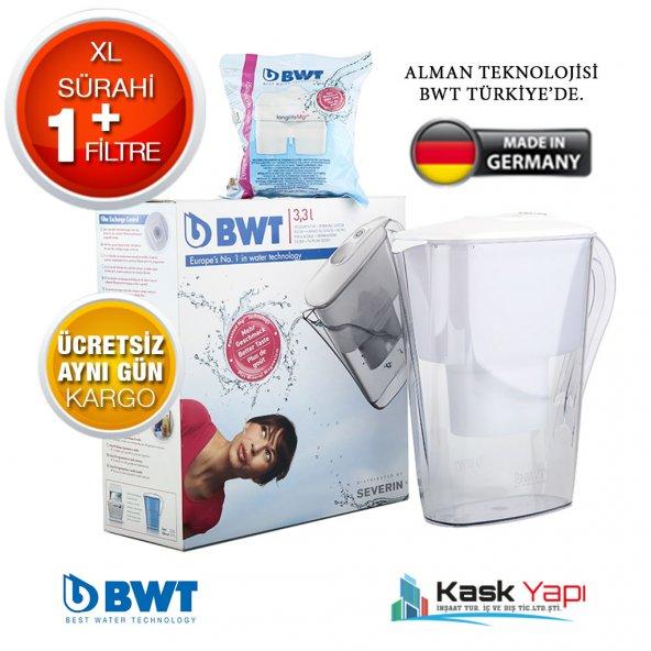 BWT XL Filtreli Su Arıtmalı Sürahi Beyaz +1 FİLTRE
