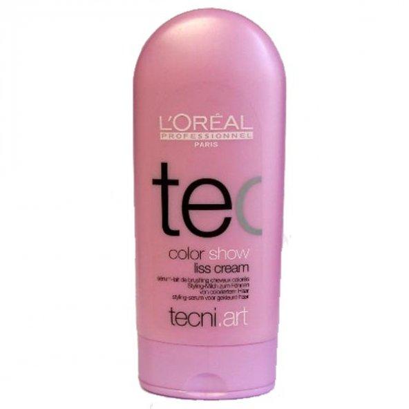 Loreal Color Show Liss Cream Boyalı Saçlar İçin Parlaklık Veren Şekillendirici Durulanmayan Süt 150 ml