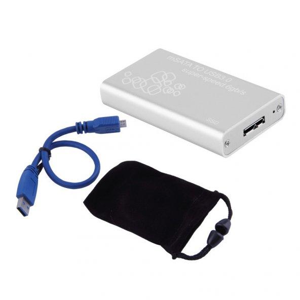 Mini mSATA to USB 3.0 SSD Hard Disk Kutusu
