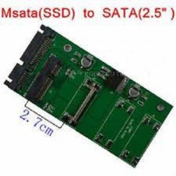 MSATA to SATA 2.7CM Mini PCI-E HARDDİSK ADAPTÖR
