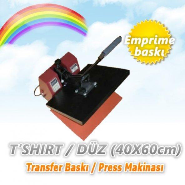 Tshirt/Düz Transfer Baskı/Pres Makinası (40x60cm)