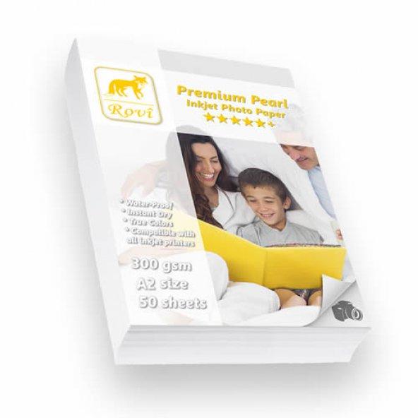 Rovi Premium İnci Fotoğraf Kağıdı - 300gsm - 50yp - A2