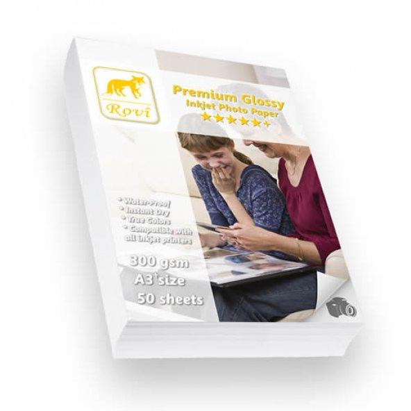 Rovi Premium Parlak Fotoğraf Kağıdı 300gsm 50yp A3+