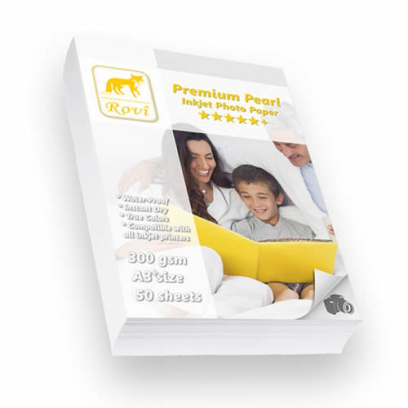 Rovi Premium İnci Fotoğraf Kağıdı - 300gsm - 50yp - A3+
