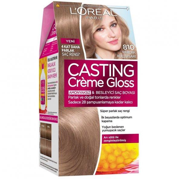 Loreal Casting Amonyaksız Saç Boyası 810 Parlak Küllü Sarı