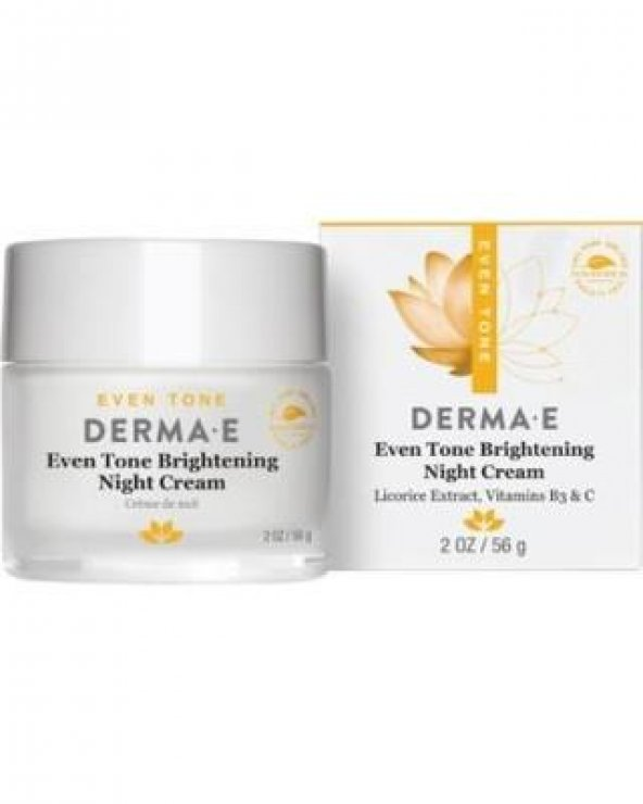 Derma E Evenly Radiant Brightening Night Creme 56 gr Aydınlatıcı