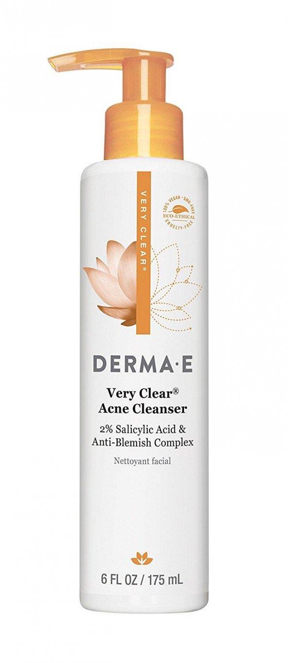 Derma E Very Clear Acne Cleanser 175 ml - Akneli Ciltler İçin Tem
