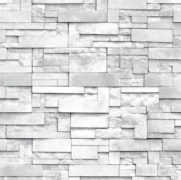 3 boyutlu FOREVER taş desenli duvar kağıdı 15271