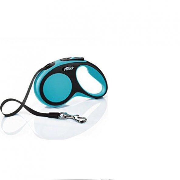 Flexi Otomatik Şerit Köpek Gezdirme Tasması Mavi L 8Mt