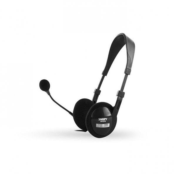 Snopy SN-218 Siyah Mikrofonlu Kulaklık