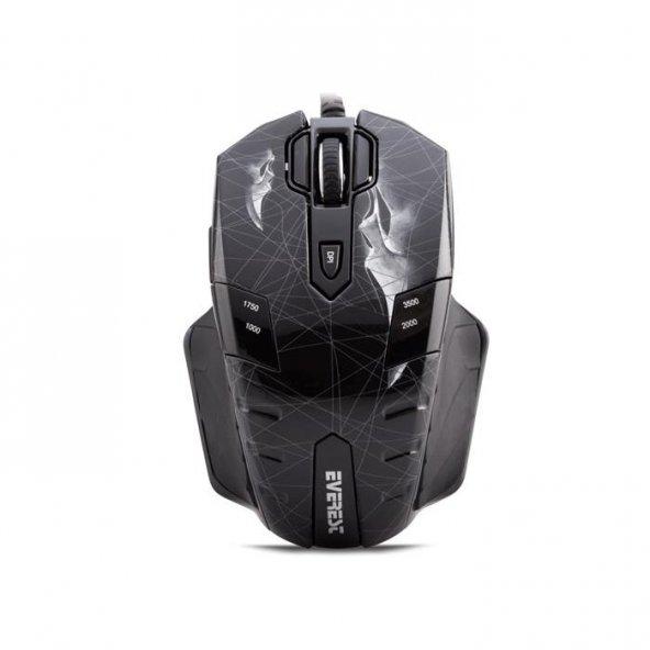 Everest GX8 Usb Scream 10 Tuşlu Makrolu Oyuncu Mouse