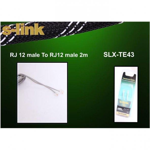 S-link SLX-TE43 2m Telefon Bilister Kablo