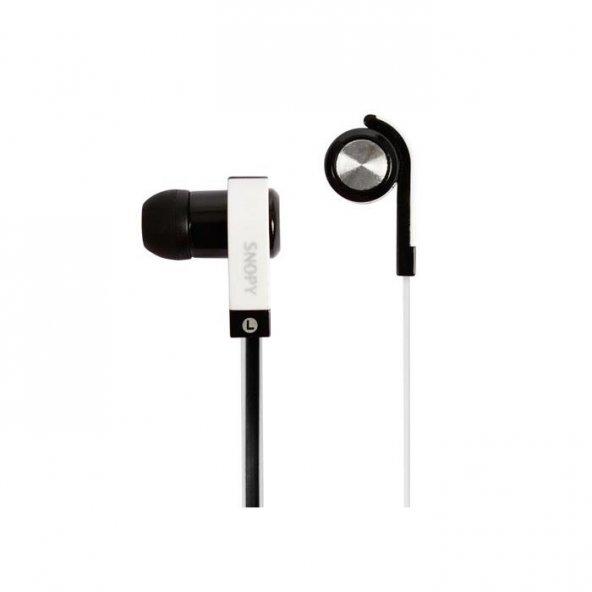 Snopy SN-5020 Mobil Telefon Uyumlu Kulak içi Siyah Mikrofonlu Kulaklık