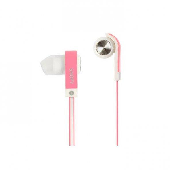Snopy SN-5020 Mobil Telefon Uyumlu Kulak içi Pembe Mikrofonlu Kulaklık