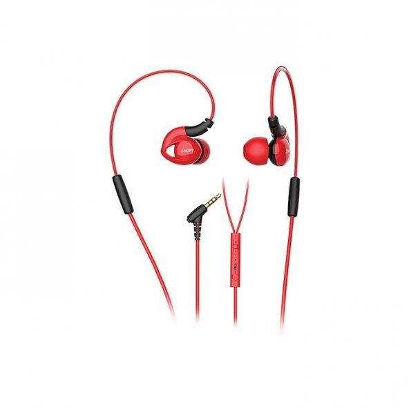 Snopy SN-RS51 Mobil Telefon Uyumlu Kulak içi Kulaklık Kırmızı Mikrofonlu Kulaklık