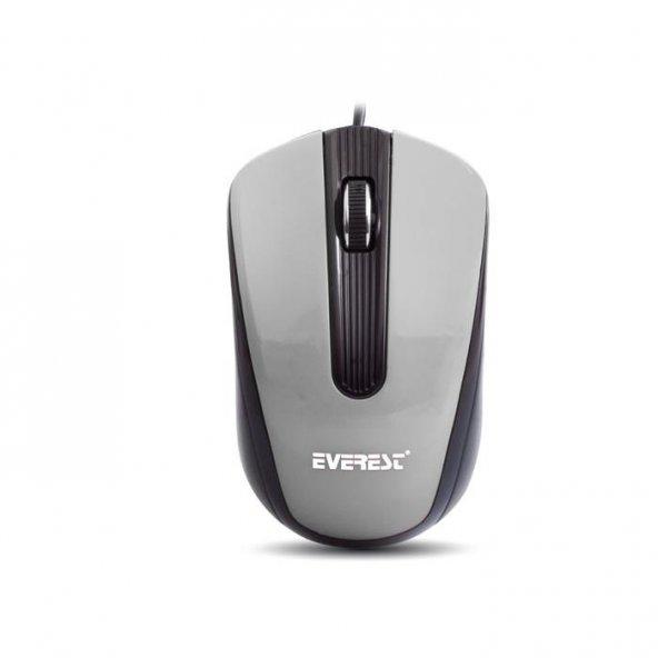 Everest SM-249 Usb Gümüş/Siyah 800 dpi Optik Mouse