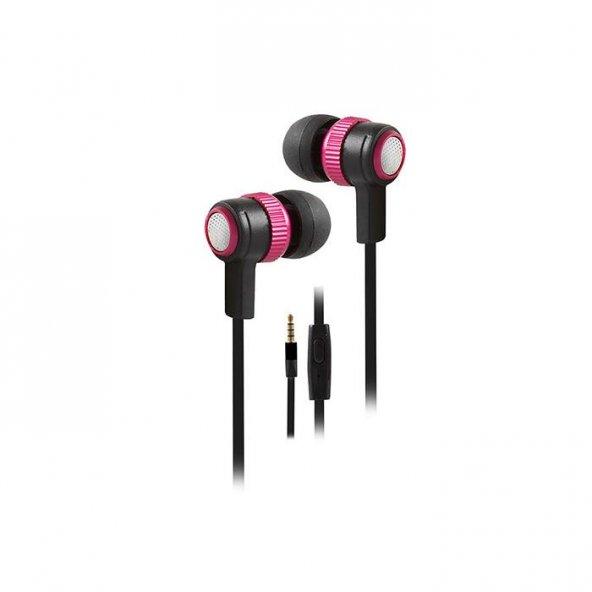 Snopy SN-501 Mobil Telefon Uyumlu Kulak içi Kırmızı Mikrofonlu Kulaklık